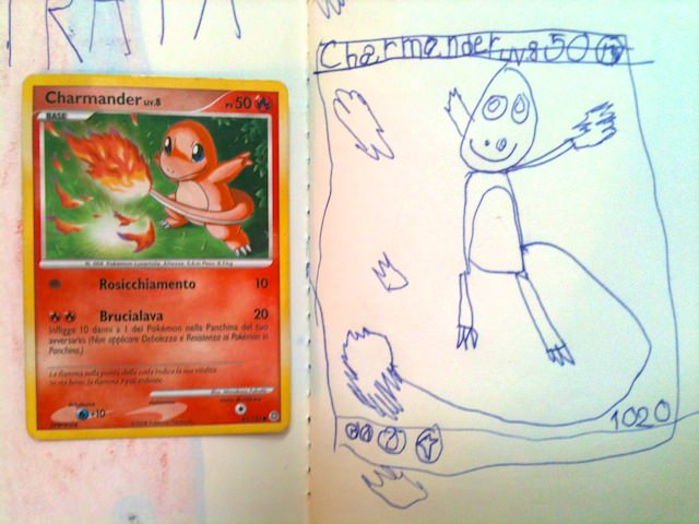 Yves ha disegnato un Charmander Pokemon