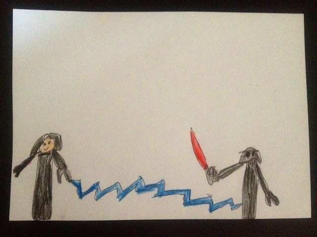 The imperator vs Darth Vader by Yves