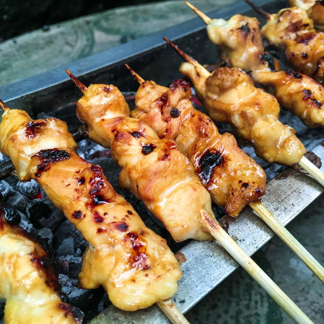 We prepared chicken satay tonight