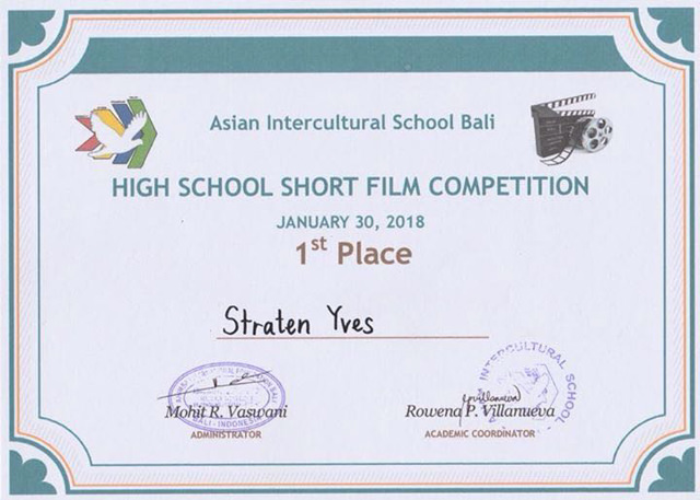 That's my certificate!