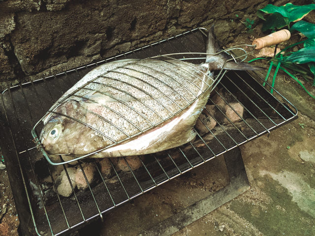 Our fish hardly fits onto our barbecue