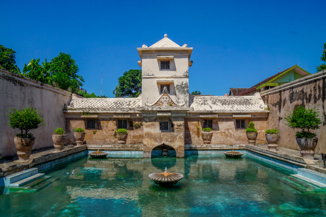 Taman Sari looks very beautiful