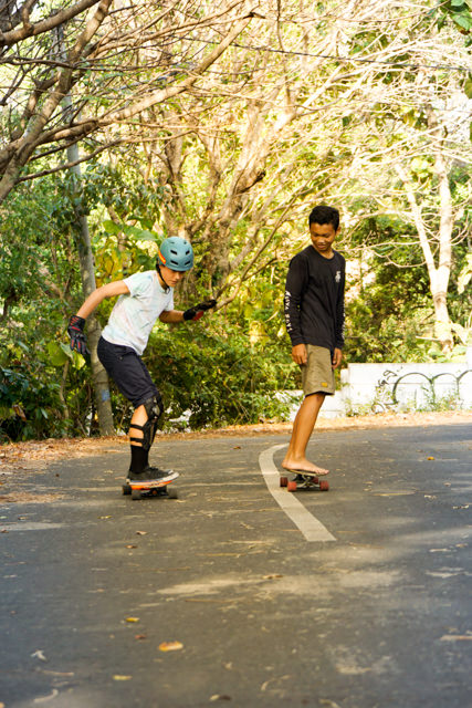 Galang and I are longboarding