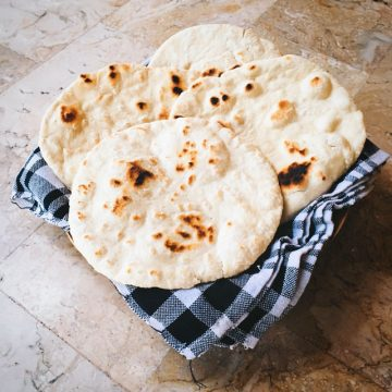 That's our homemade pita bread