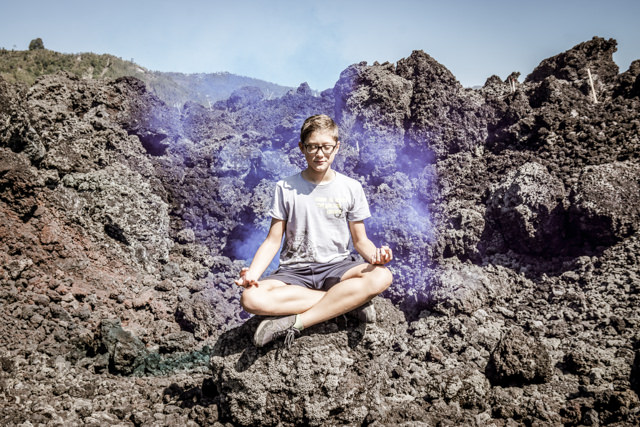 I'm meditating in the lava filed