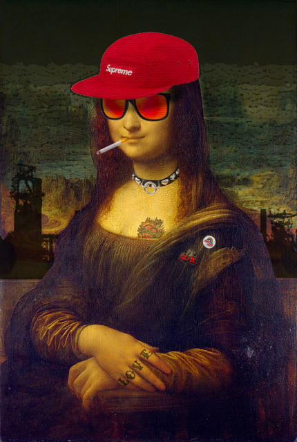 That's how I imagine the Mona Lisa would be in 2018
