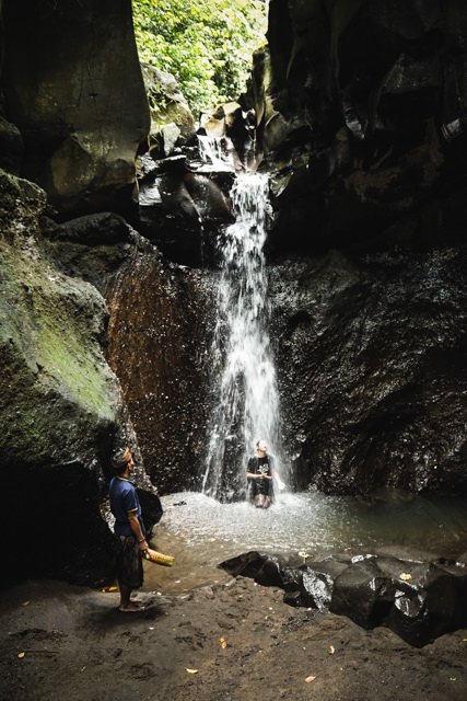 This one is the top waterfall on the Gianyar springs