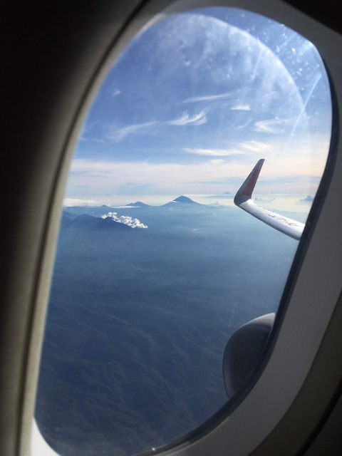 It's so nice to see our volcanoes from over the clouds