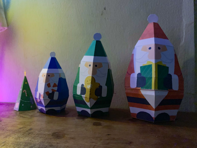 We made some Papercraft Christmas Decorations