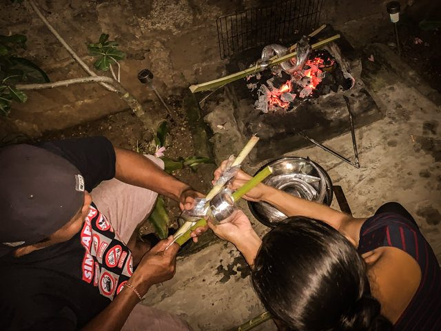 We're grilling Layur the traditional way