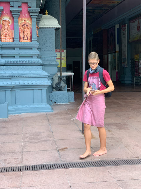 Of course I'm wearing a Sarung - although an improvised one