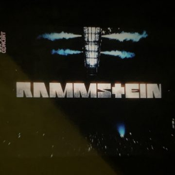 We're watching a Rammstein Concert on our terrace